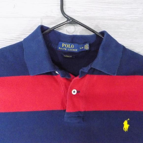 70234e4b5e Polo by Ralph Lauren Shirts | Vtg Polo Ralph Lauren Wide Stripe Polo ...